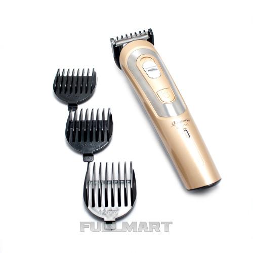 Аккумуляторная машинка для стрижки волос Gemei GM-6112 Золотистый
