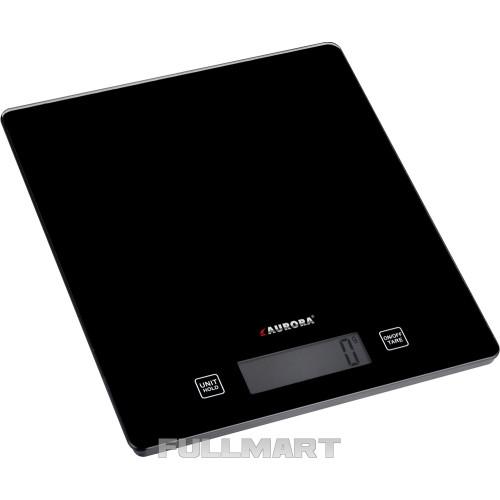 Весы электронные кухонные AURORA AU-4302 15 кг из стекла Черный (hub_gWKx73405)