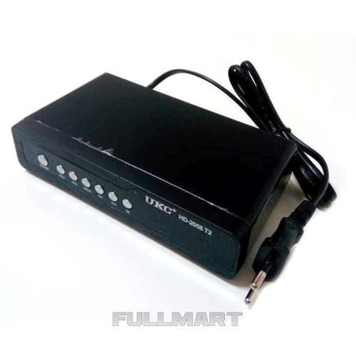 Тюнер Т2 UKC DVB-T2 2058 Metal Черный (008163)