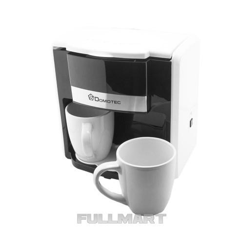 Капельная кофеварка Domotec MS-0706 с 2 чашками Белая (gr_008524)