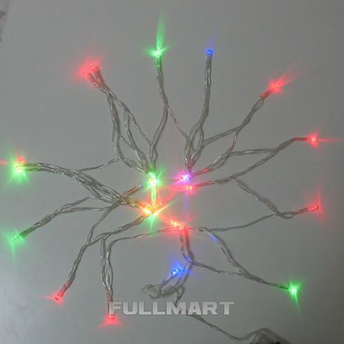 Гирлянда Xmas M на батарейках 30 светодиодов Разноцветная (gr_008209)