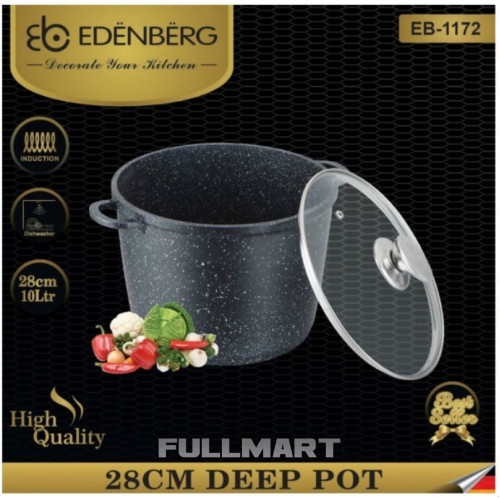 Кастрюля EDENBERG EB 1172 10 л Черный