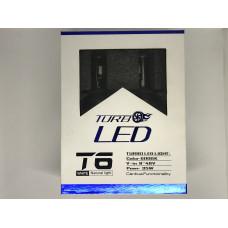 Комплект автомобильных ламп TurboLed T6 H4 6000K/8000 Лм с кулером (in-86)