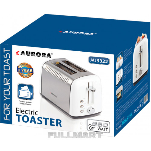 Тостер AURORA AU-3322 850 Вт Белый (hub_VaUs74731)