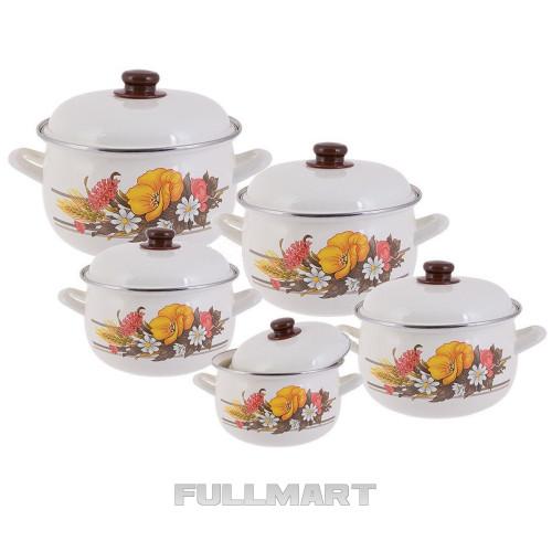 Набор посуды EDENBERG EB 1875 10 предметов Белый с рисунком