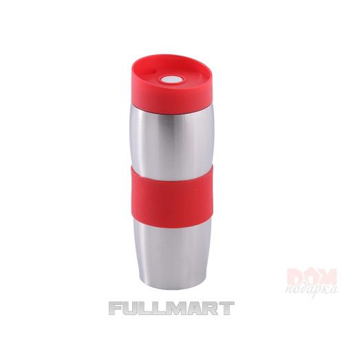 Термокружка UNIQUE UN-1072 0.38 л Серебристый с красным
