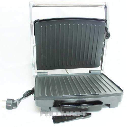 Прижимной электрогриль с терморегулятором Crownberg CB 1067 2000 Вт Серебристый / Черный (LS1010053852)