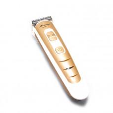 Аккумуляторная машинка для стрижки волос Gemei GM-6113 Белый с золотистым