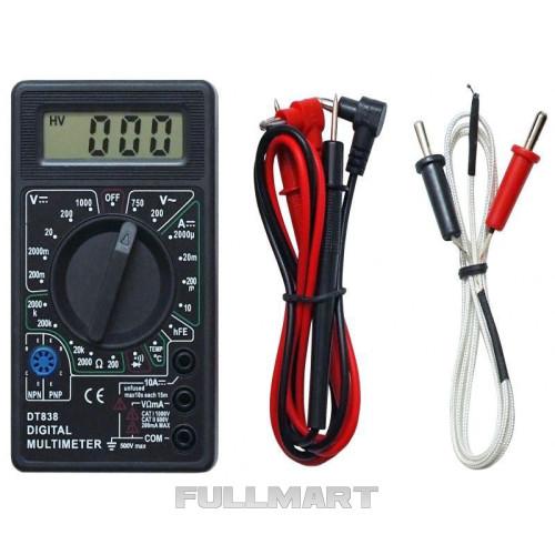 Мультиметр DT-838 + термопара/щупы/крона (45017)