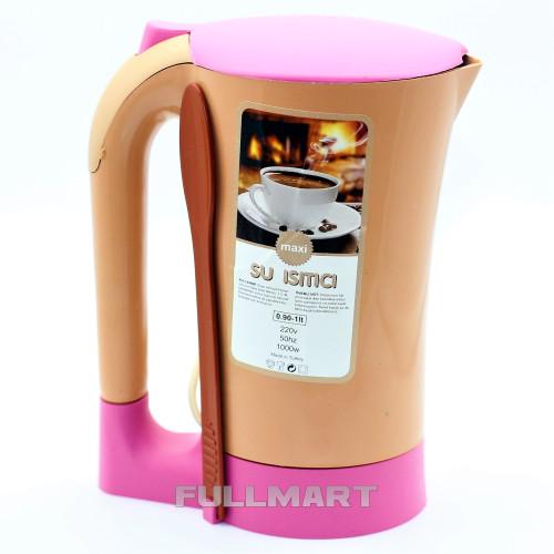 Электрочайник МИНУТКА Maxi 0.9 л Коричневый с розовым (1420)