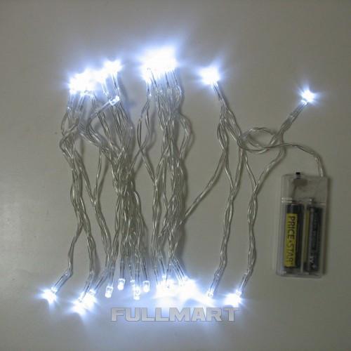 Гирлянда Xmas W на батарейках 30 светодиодов Белая (gr_008212)