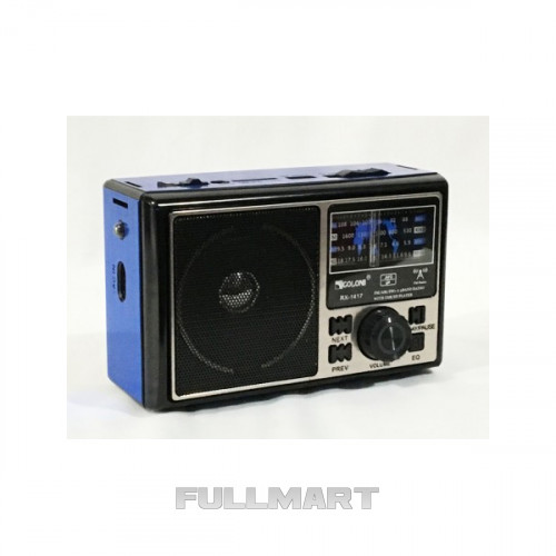 Портативный радиоприемник GOLON RX 1417 USB FM Синий (45931)