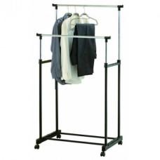 Двойная Вешалка Double Pole напольная двойная стойка для одежды