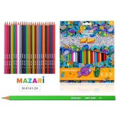 Карандаши цветные пластиковые JOY ART, 24 цвета