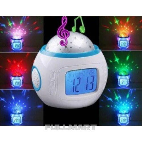 Ночник с часами проектор звездного неба Yuhai UI-1038