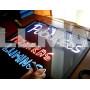 Доска флуоресцентная FLUORECENT BOARD 50*70 c фломастером, салфеткой и стойкой