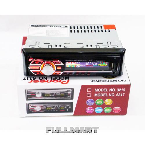 Автомагнитола 1DIN MP3-6317 RGB | Автомобильная магнитола | RGB панель + пульт управления