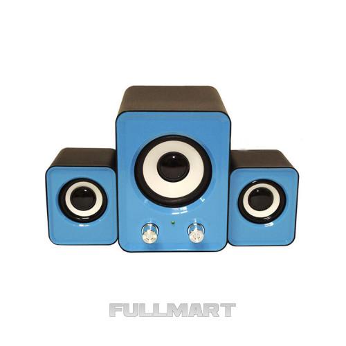 Компьютерные колонки акустика IS 12 220v Голубые | акустические мощные колонки | музыкальная колонка