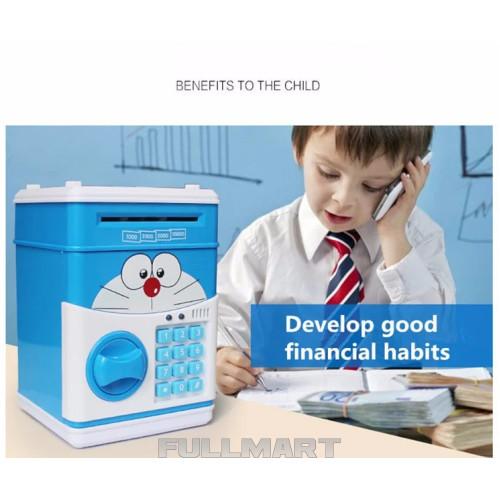 Копилка детский сейф CAT музыкальный с кодовым замком для бумажных денег и монет