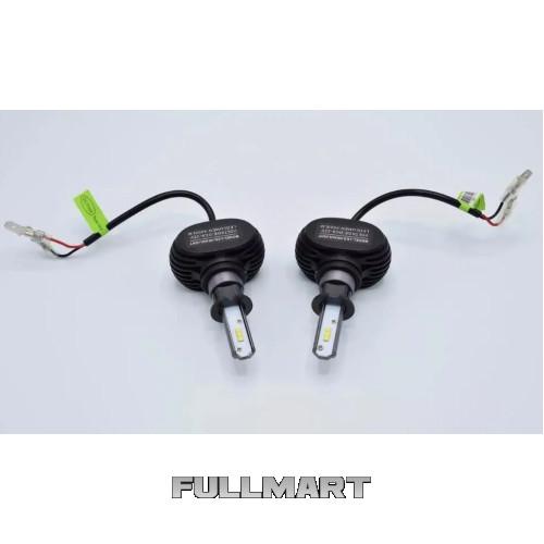 Светодиодные LED лампы S1 H27 для автомобиля | автолампы 8000LM 6500K Цоколь | лед автолампы