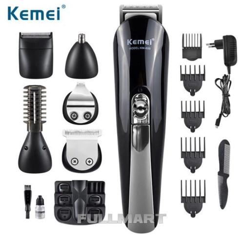 Профессиональная машинка для стрижки волос с насадками Kemei KM 600|триммер для волос