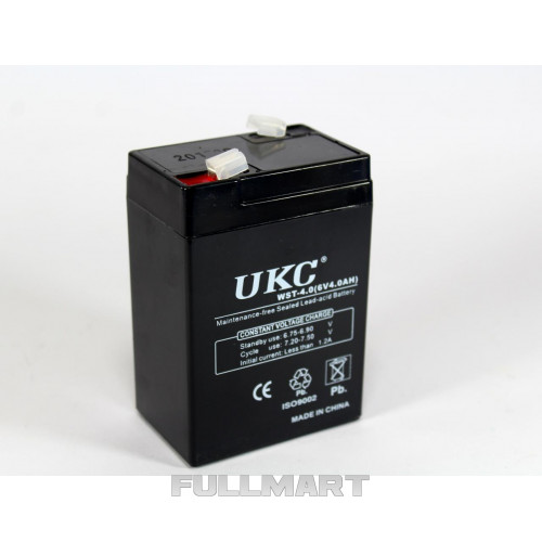 Герметичный кислотно-свинцовый аккумулятор BATTERY RB 640 6V 4A UKC   аккумуляторная батарея