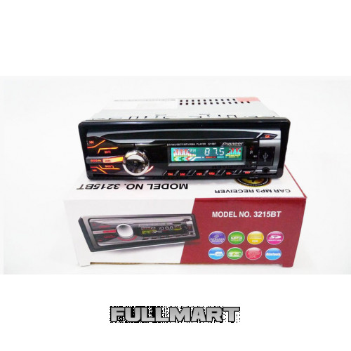 Автомагнитола 1DIN MP3-3215BT RGB/Bluetooth   Автомобильная магнитола   RGB панель + пульт управления