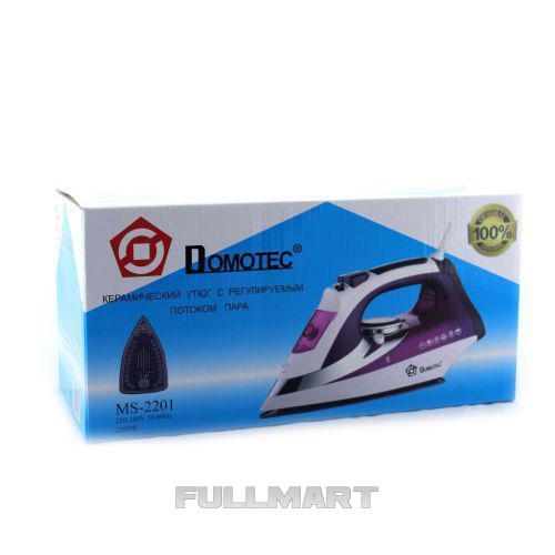 Паровой Утюг Domotec MS-2201 Ceramic 2200 Вт керамическая подошва (Домотек)