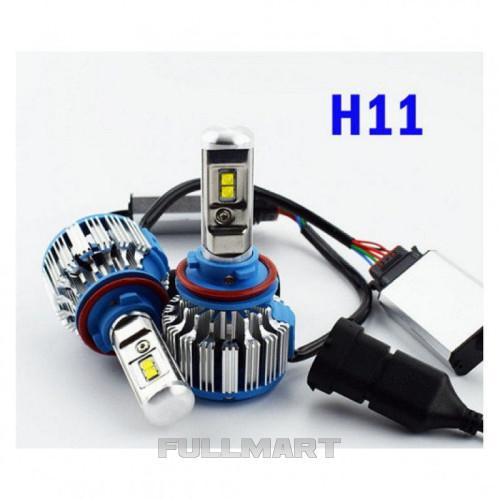 Светодиодные LED лампы T1-H11 для автомобиля   автолампы HeadLight TurboLed