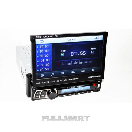 Автомагнитола 1DIN DVD-712 с выездным экраном   Автомобильная магнитола  + пульт управления