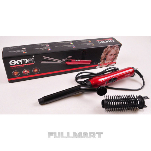 Плойка для завивки волос Gemei GM-2906 с насадкой щетки
