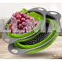 Дуршлаг силиконовый складной 2 шт в комплекте (большой + маленький) Collapsible filter baskets