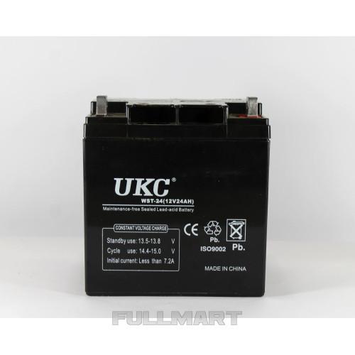 Герметичный кислотно-свинцовый аккумулятор UKC BATTERY 12V, 24А | аккумуляторная батарея