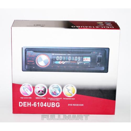 Автомагнитола 1DIN DVD-6104 | Автомобильная магнитола | RGB панель + пульт управления