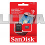 MicroSD флешка для телефона SanDisk microSDHC 16Gb Class 10