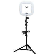 Квадратная лампа для блогера с штативом d35