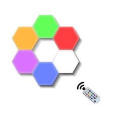 Светильник модульный сенсорный RGB 3DTOYSLAMP Соты 3 шт с пультом