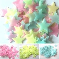 Cветящиеся наклейки на потолок и стену Звездное небо 50 шт