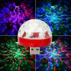 USB светомузыка диско лампа для вечеринок