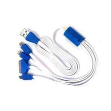 Универсальная зарядка USB Micro+Mini+iPhone4+iPhone5 4в1
