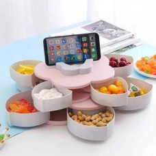 Вращающаяся тарелка-органайзер Менажница для закусок фруктов и сладкого
