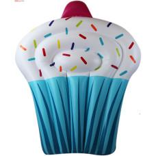 Пляжный надувной матрас - плот Кекс 150х120х20 см надувной торт