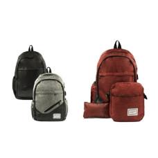 Рюкзак мужской бордовый 3в1