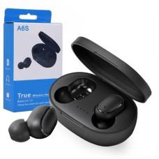 Беспроводные блютуз наушники A6S сенсорные TWS с микрофоном и кейсом