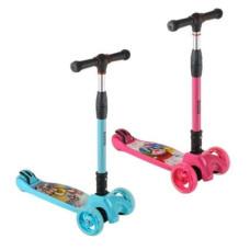 Детский складной самокат с светящимися колёсами B01