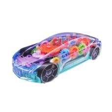 Интерактивная машинка с прозрачным корпусом и музыкальной LED подсветкой Concept Racing