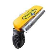 Фурминатор FURminator для вычесывания шерсти собак и кошек с короткой шерстью с кнопкой 10×0.5 см