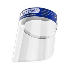 Защитный экран щиток для лица прозрачный пластик 33х22 см Face Shield