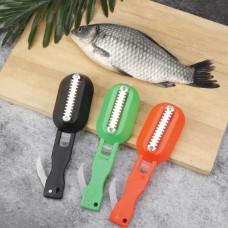 Нож для чистки рыбы с контейнером для чешуи Fish scales WIPER CLEANING Рыбный Скейлер