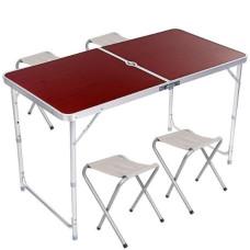 Складной стол для пикника Folding Table 120х60см + 4 стула